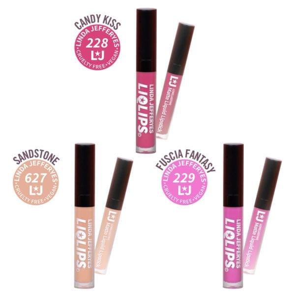 LIQLIPS Matte Liquid Lipstick Trio Kit 001
