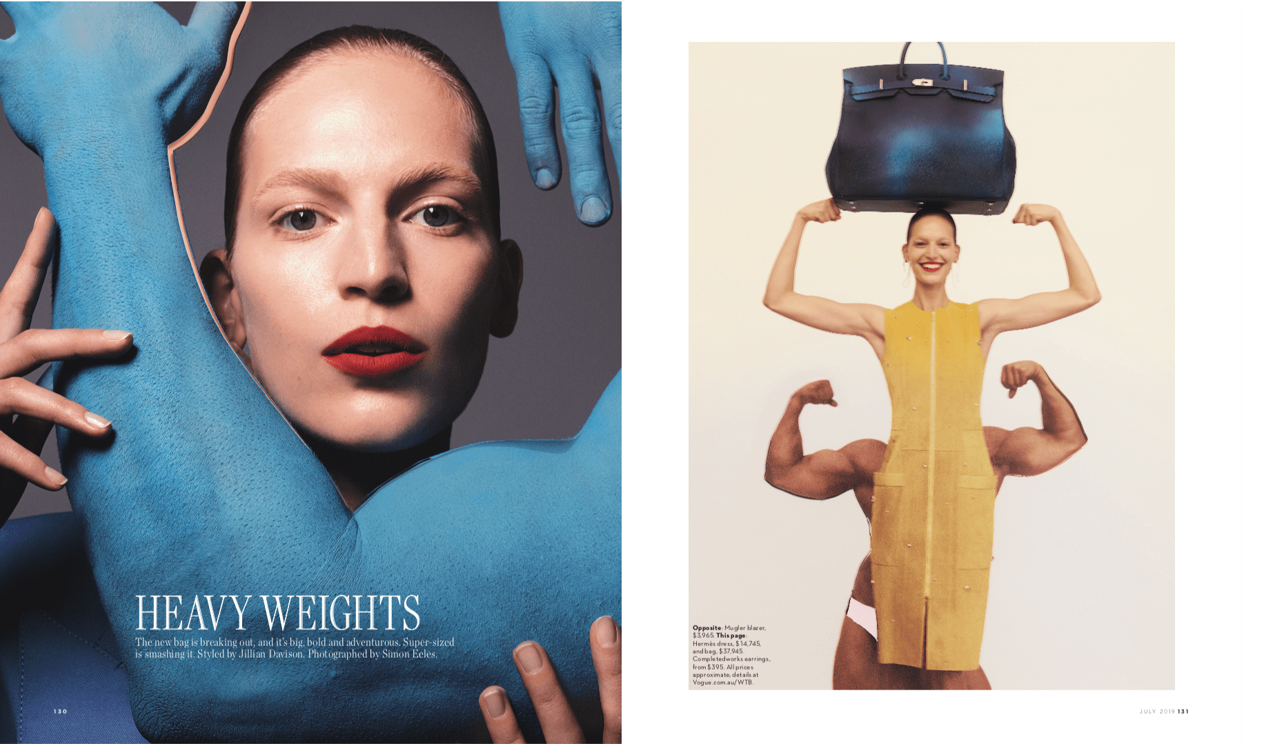 Vogue Editorial - Linda Jefferyes MakeUp - Heavyweights