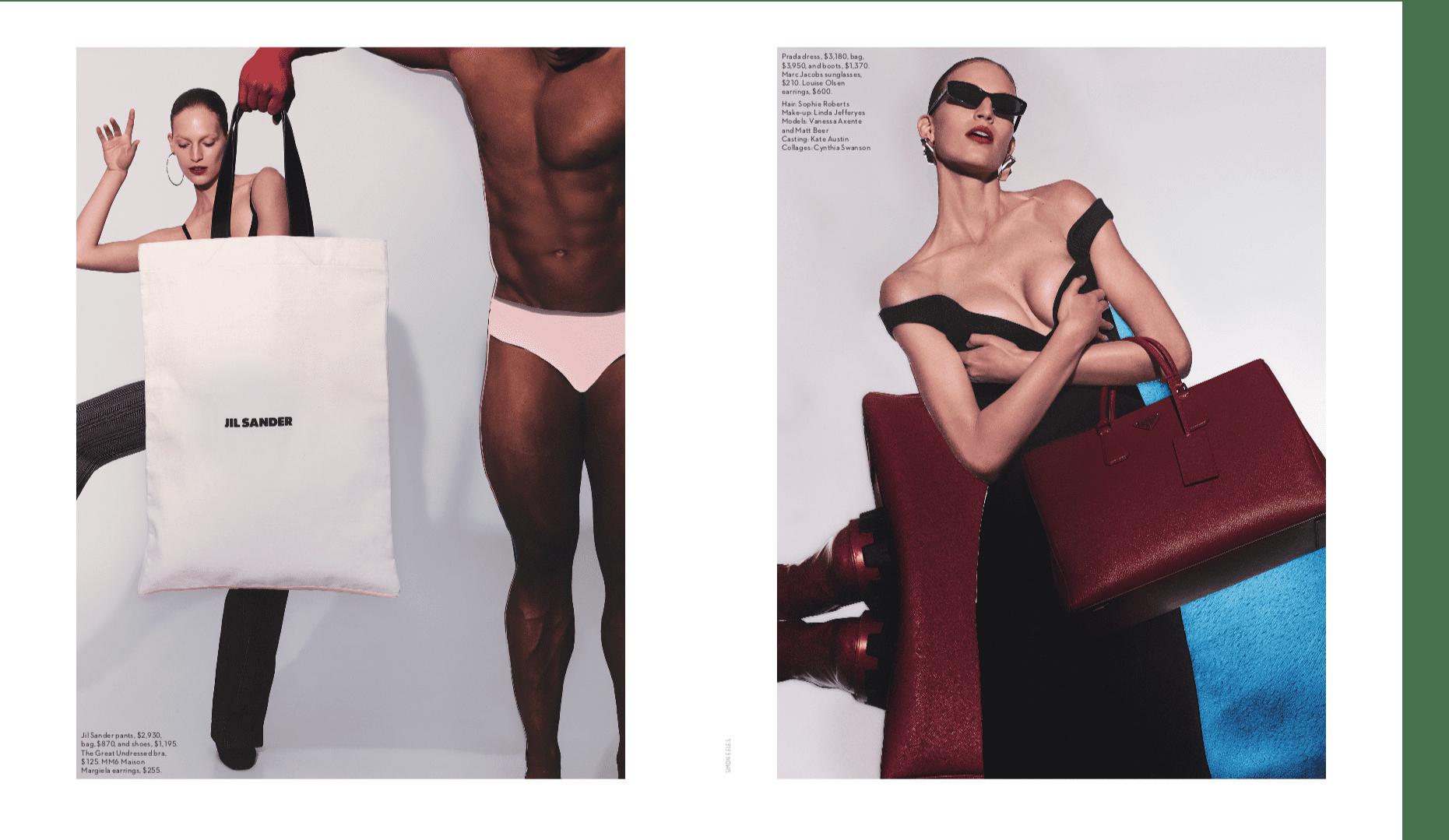 Vogue Editorial - Linda Jefferyes MakeUp - Heavyweights