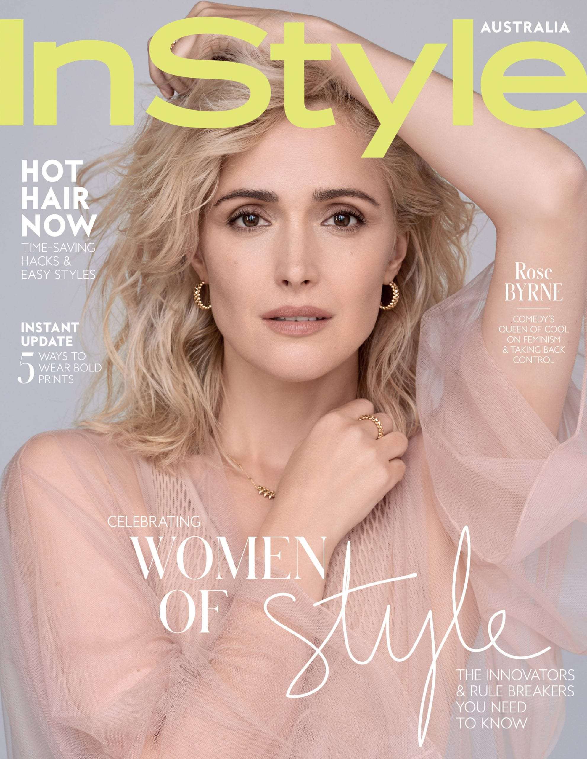 Instyle Cover Story Rose Byrne