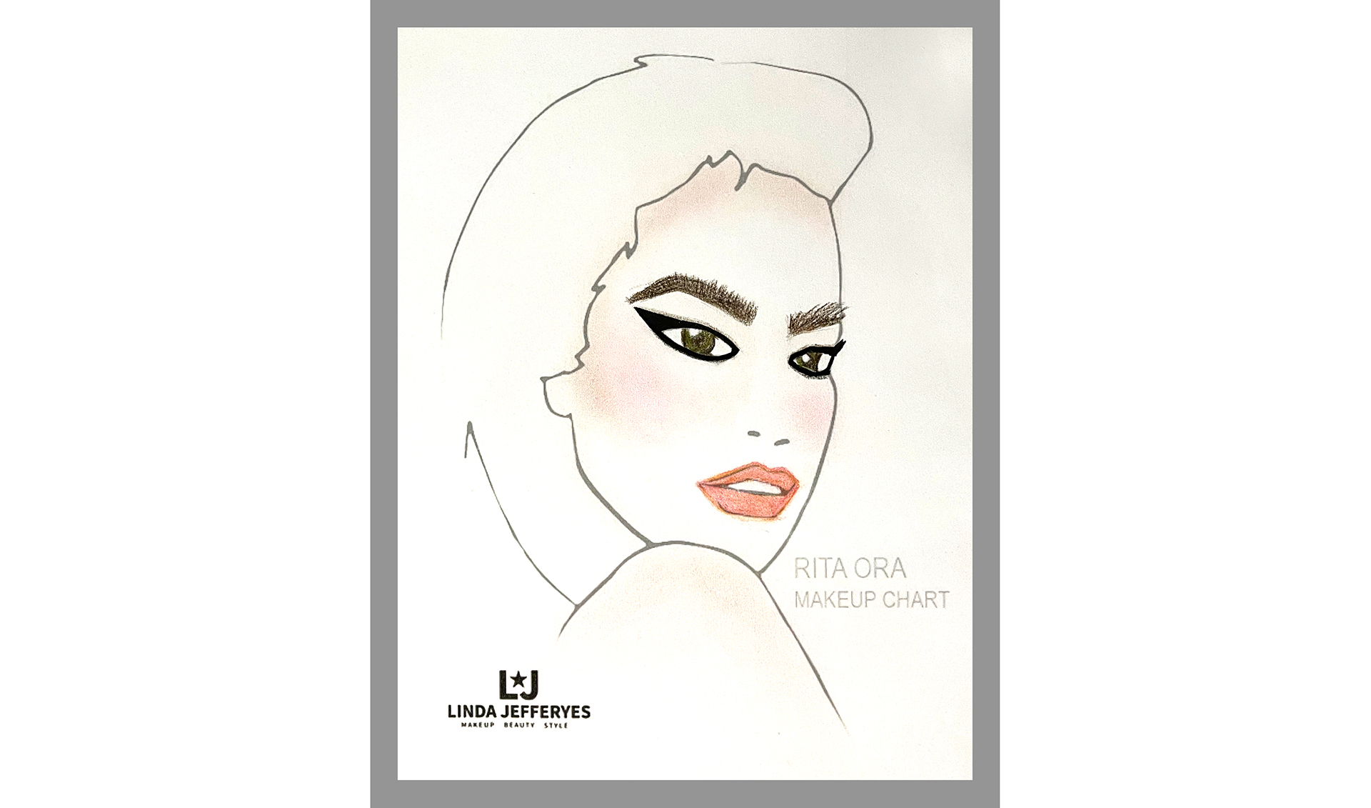Rita Ora for The Voice - Makeup Chart by Linda Jefferyes