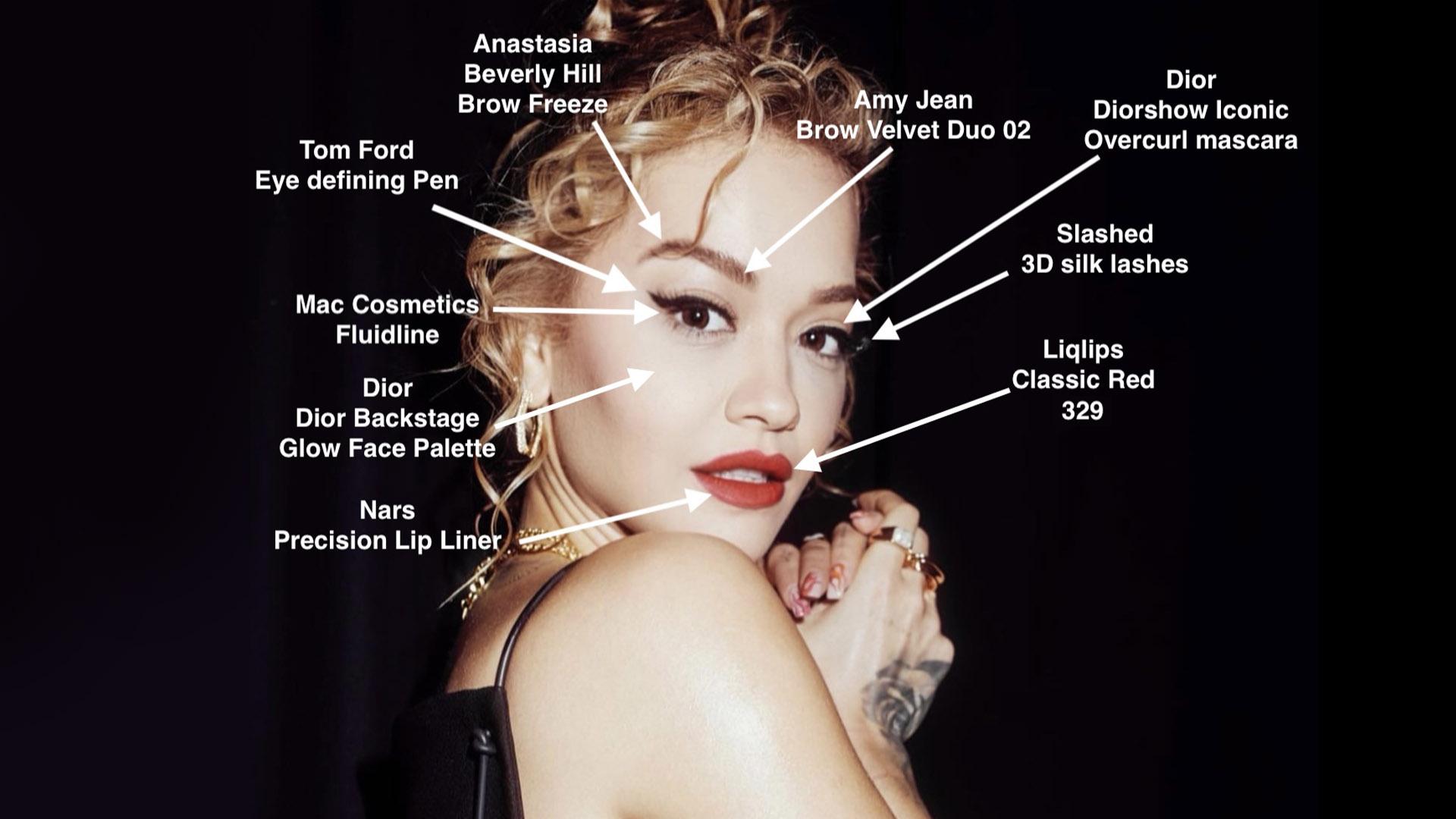 Rita Ora - The Voice - Winged Eye Red Lip - Facechart